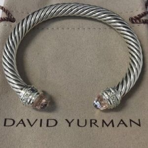 David Yurman Diamond Morganite 5mm Bracelet